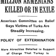 Armenian massacres and deportations were widely reported in the international press between the 1890s and 1920s