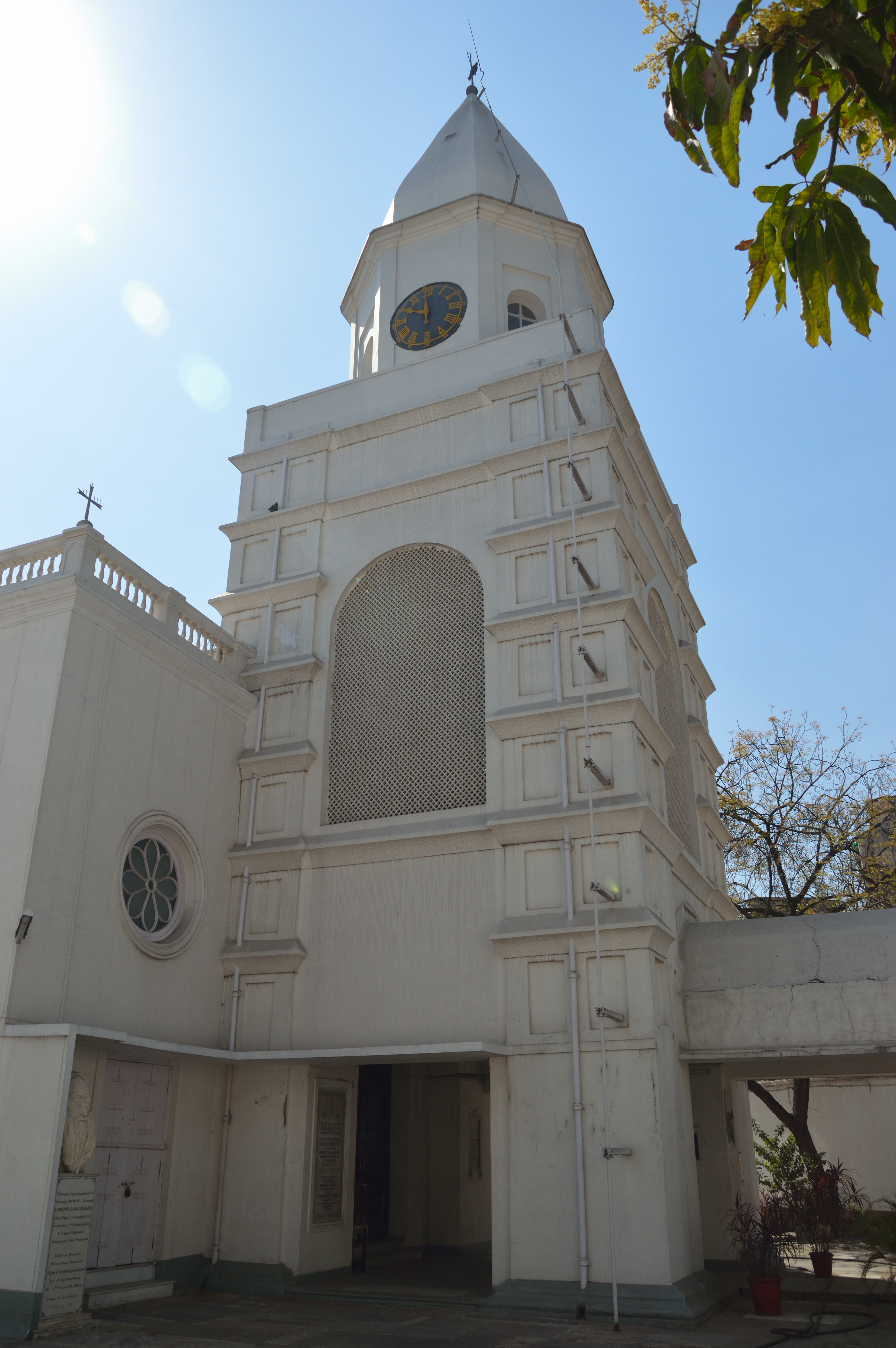 The clock tower at the Armenian Holy Church of Nazareth, Calcutta (Kolkata), early 18th century