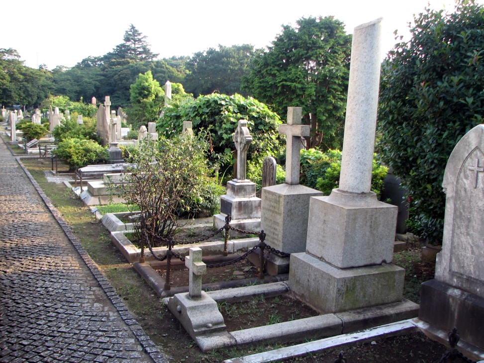 The Foreign General Cemetery in Yokohama, Japan, where Diana Apcar is buried