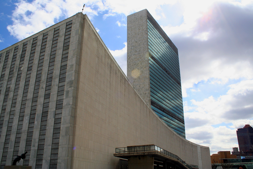 The UN building in New York