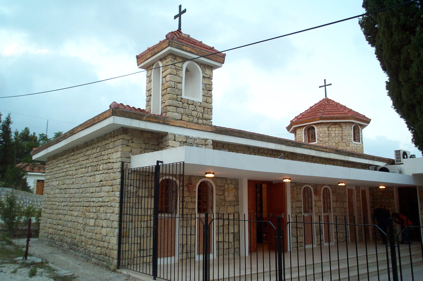 The church in Vakıflı, the one remaining Armenian village in Turkey today, in the far south-eastern coast of the country, by the border with Syria