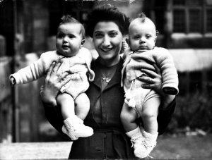 Nana with twins