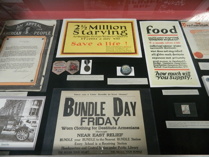 A sample of flyers and brochures by Near East Relief calling for donations to help victims of the Armenian Genocide