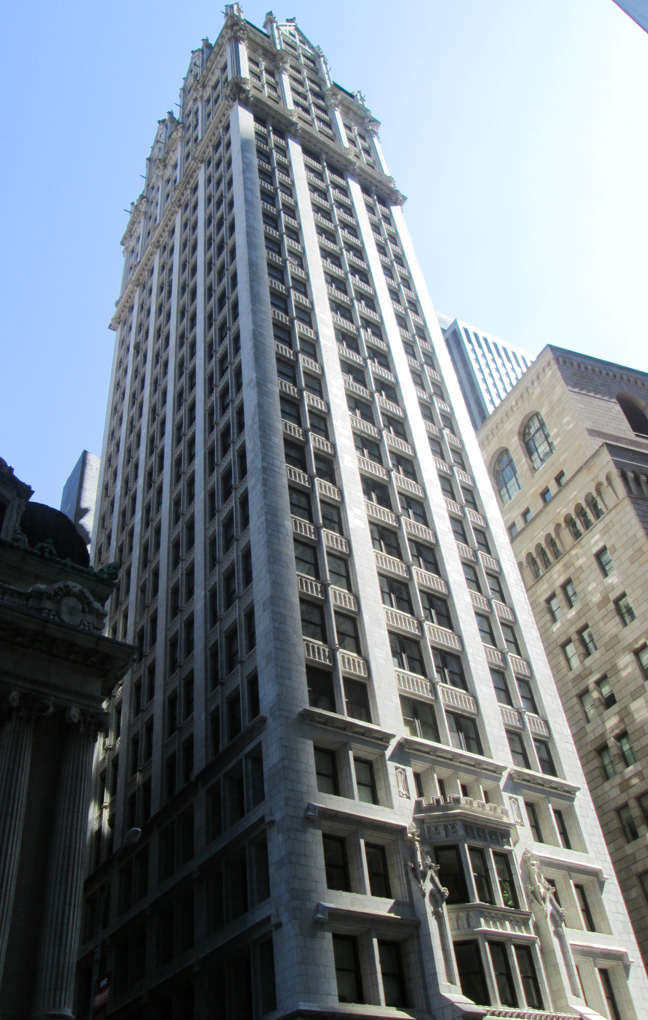 55 Liberty Street, where the law offices of Vahan Cardashian were located in the early 1910s; the Liberty Tower is currently a residential building